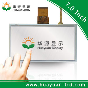 """with Backlight 7"""" TFT LCD 800X480 with Resistive Touch Panel"""