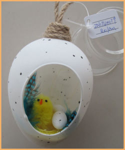 Oval Egg Glass Easter Ornament for Holiday Supplies pictures & photos