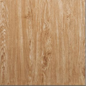 600X600mm Wood Design Yellow Color Full Body Porcelain Material Glazed Tile pictures & photos