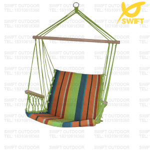 Cushioned Hanging Rope Chair with Arm Rests pictures & photos