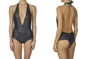 2015 Sexy Neoprene One Piece Smooth Skin Swimwear pictures & photos