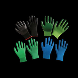 13G Nylon Nitrile Coated Working Glove with Cut Resistant and Grip pictures & photos