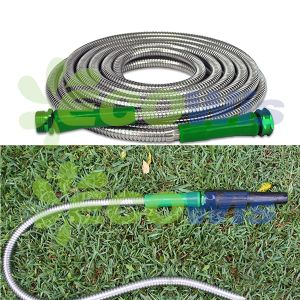 Fire Man′s Spray Nozzle Stainless Steel Flexible Garden Hose pictures & photos