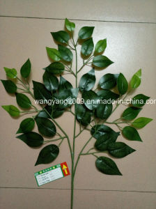 Artificial Fake Synthetic Ficus Banyan Leaves