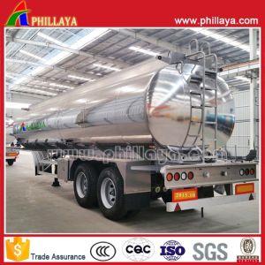Double Axles Air Suspension Fuel Tank Aluminum Alloy Tanker Trailer pictures & photos