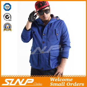 Casual Oversize Hooded Blue Clothing for Men