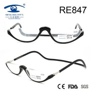 2017 Half Rims Fashion Plastic Magnetic Reading Glasses (RE847) pictures & photos