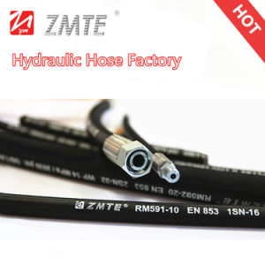 Wire Braid Flexible High Pressure Hydraulic Rubber Hose pictures & photos