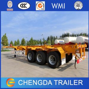 New 3 Axle Container Skeleton Skeletal Semi Trailer for Sale pictures & photos