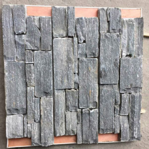 Top Saled Natural Yellow Slate Stacked Cement Wall Panels (SMC-CC158) pictures & photos