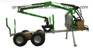 Ce Certificate 1500kg ATV Timber Trailer with Crane Hot Selling in Sweden pictures & photos