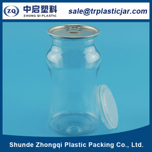 Transparent 590ml Plastic Tea Tin Can