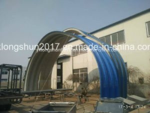 K Type Super Arch Roof Colored Steel Coil Sheet Cold Roll Forming Machine pictures & photos