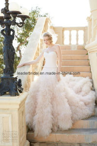 Light Pink Tulle Ball Gowns Sweetheart Wedding Bridal Dresses Z5052 pictures & photos