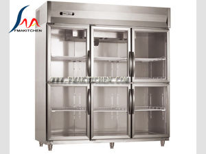 6 Door Air-Cooling Refrigerator/6 Half Doors Upright Chiller, 1550L pictures & photos