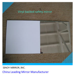 3mm-6mm Vinyl Backed Safety Mirror with Max Width 1830mm, for Sliding Door, Wardrobe, Cabinet, or Other Public Areas pictures & photos