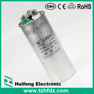 70VAC 45UF (UL, VDE, RoHS, CE, CQC CAS approval) Cbb65 Air Conditioner Capacitor 3 pictures & photos
