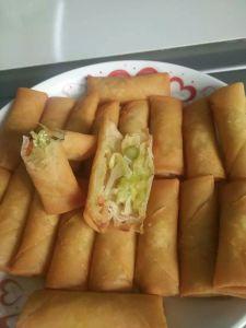 HACCP Brc Certifacte Tsingtao Vegetable 17g/piece Spring Rolls in Frozen Cookin pictures & photos
