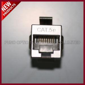 Network 8X8 Shielded RJ-45 Inline Coupler 8P8C Cat5E Module pictures & photos