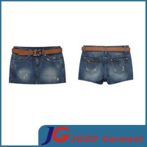 Bottom Scratch Girl Mini Short Pants Kirt (JC2079) pictures & photos