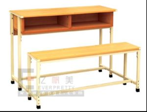 2015 School Furniture Clasroom Double Desk & Chair (GT-61) pictures & photos