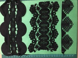Black Color Good Quality Polyester Lace pictures & photos
