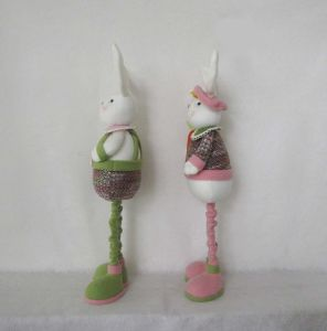 Standing Decoration Easter Garden Boy and Girl Bunny pictures & photos