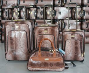PU Trolley Bag Luggage Trolley Case Suitcase 01jb001 pictures & photos