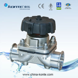 Sanitary Diaphragm Valve Clamped End, Stainless Steel Diaphragm Valve Ss304 Ss316 pictures & photos