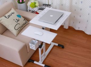 Computer Stand Laptop Desk Cart with Pen Holder and Casters pictures & photos