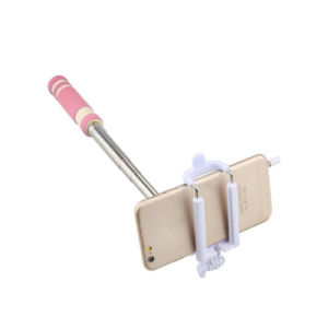 Mini Mobile Phone Monopod Foldable Selfie Stick with Cable pictures & photos