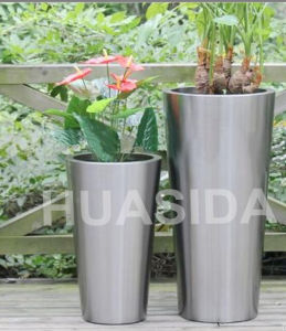 Park/Garden Used 304 Stainless Stain Outdoor Big Flowerpot pictures & photos