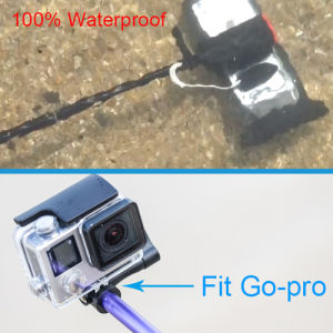 Audio Cable Waterproof Wired Selfie Stick and Waterproof Pouch for Smartphone pictures & photos