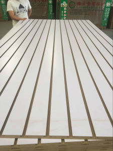 Factory-White Melamine Slot MDF in 12mm 15mm 18mm pictures & photos