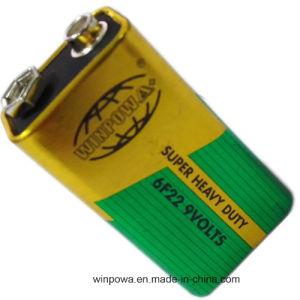 9V 6f22 Zinc Carbon Type Super Heavy Duty Battery pictures & photos