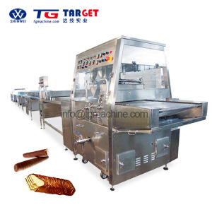 High Efficient Chocolate Enrobing Machine with Ce Certification pictures & photos