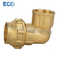 Brass Female Elbow Pipe Fittings for PE Pipe Fitting pictures & photos