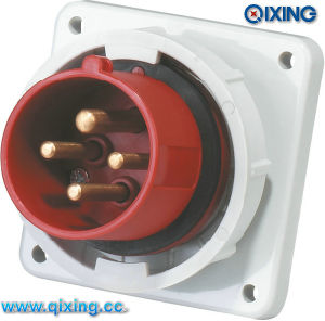Waterproof CE IP67 Panel Mounted Plug for Industrial Application (QX827) pictures & photos