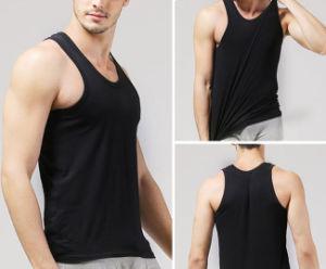 Hot Sale Custom Spandex and Cotton Slim Fit Vest pictures & photos