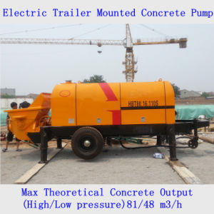 Electric Trailer Mounted Concrete Pump pictures & photos