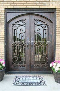 Beautiful Security Custom Wrought Iron Grill Front Entry Door pictures & photos