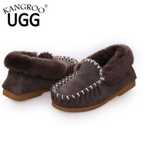 Comfortable Soft Sheepskin Casual Men Shoes in Grey pictures & photos