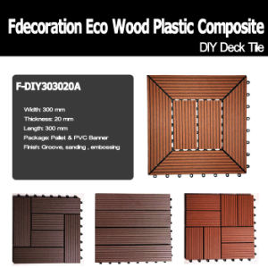 Sun Proof Anti UV DIY Plastic Wood Composite WPC Decking