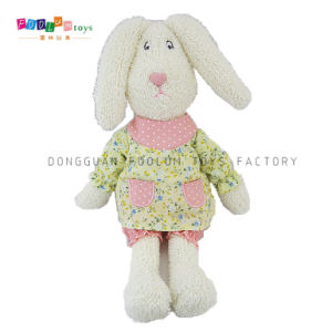 Plush Toys Manufacturer Stuffed Plush Rabbit with Clothes Kids Toy
