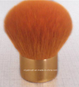Gold Kabuki Brush with Superior Goat Hair Ly-K015