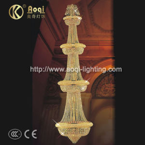 Golden K9 Crystal Long Pendent Lamp (AQ-7107) pictures & photos