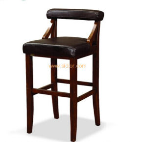 (CL-4404) Luxury Hotel Restaurant Club Furniture Wooden High Barstool Chair pictures & photos