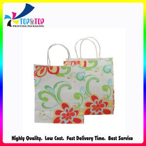 Eco-Friendly White Kraft Paper Bag with Handle pictures & photos