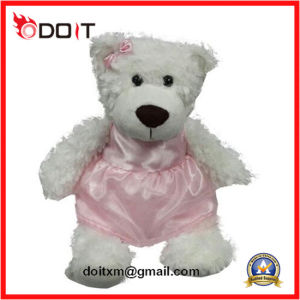 Silk Pink Skirt Bowtie Kids Toy Teddy Bear pictures & photos