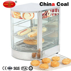 Curved Glass Food Display Warmer pictures & photos